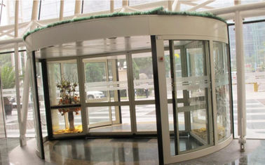 चीन 2 Wing Stainless steel  frame Automatic Revolving Door for Hotel / Bank / Airport आपूर्तिकर्ता