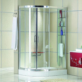 चीन Automatic Curved interior Home frosted glass frameless shower doors वितरक