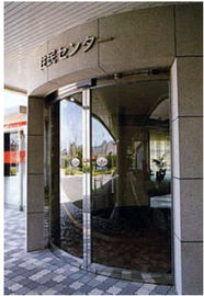 चीन Round Automatic Curved Sliding Door , hotel auto sliding glass door वितरक
